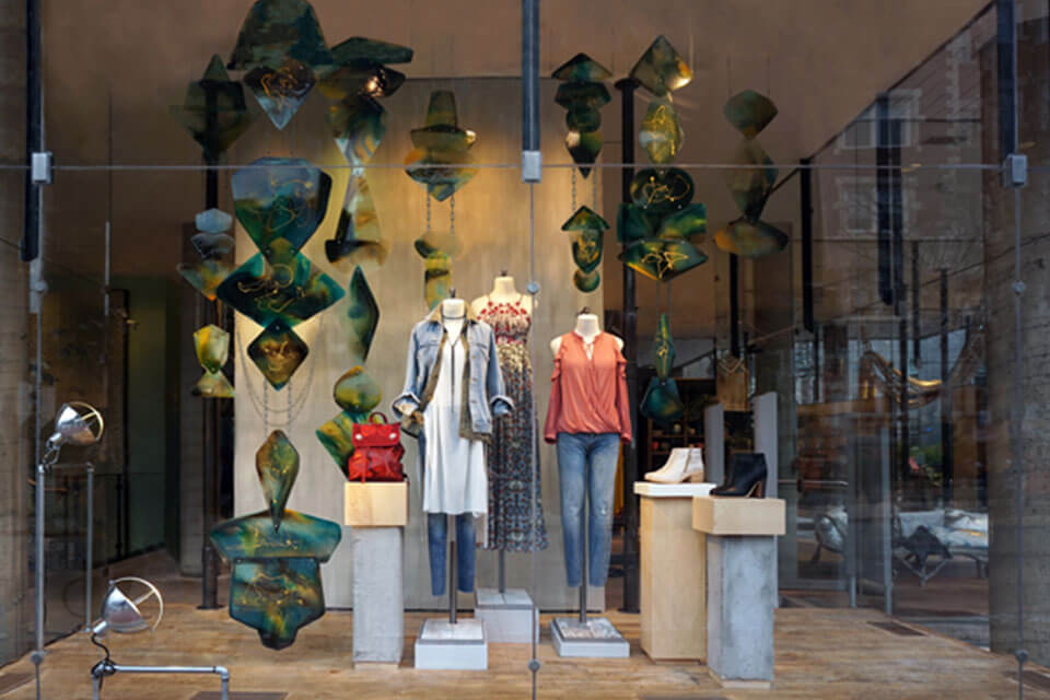 Storefront window at Anthropologie