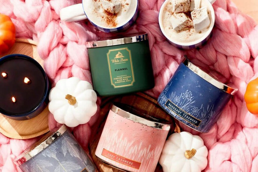 Candles from Bath & Body Works