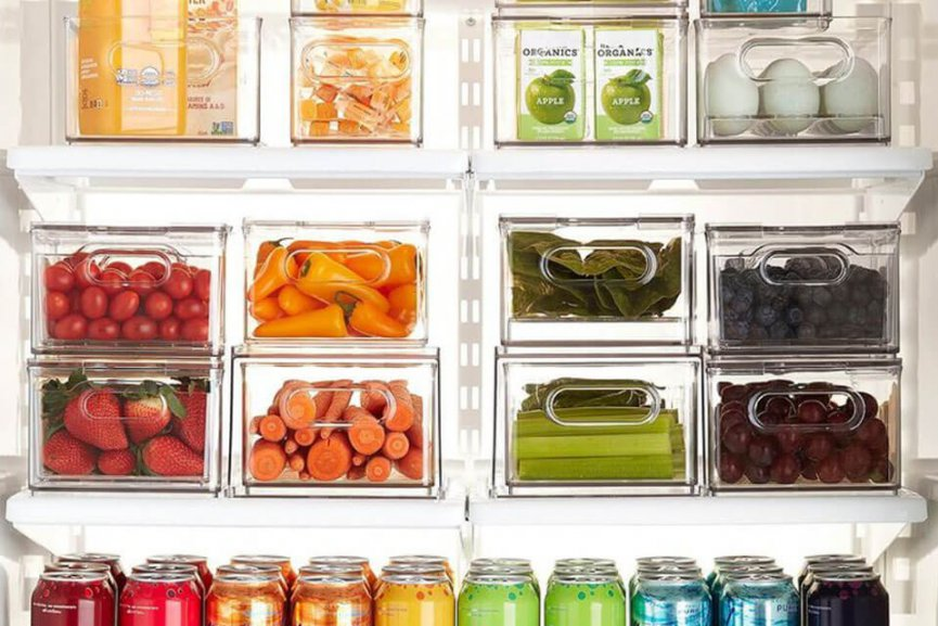 Plastic containers from The Container Store