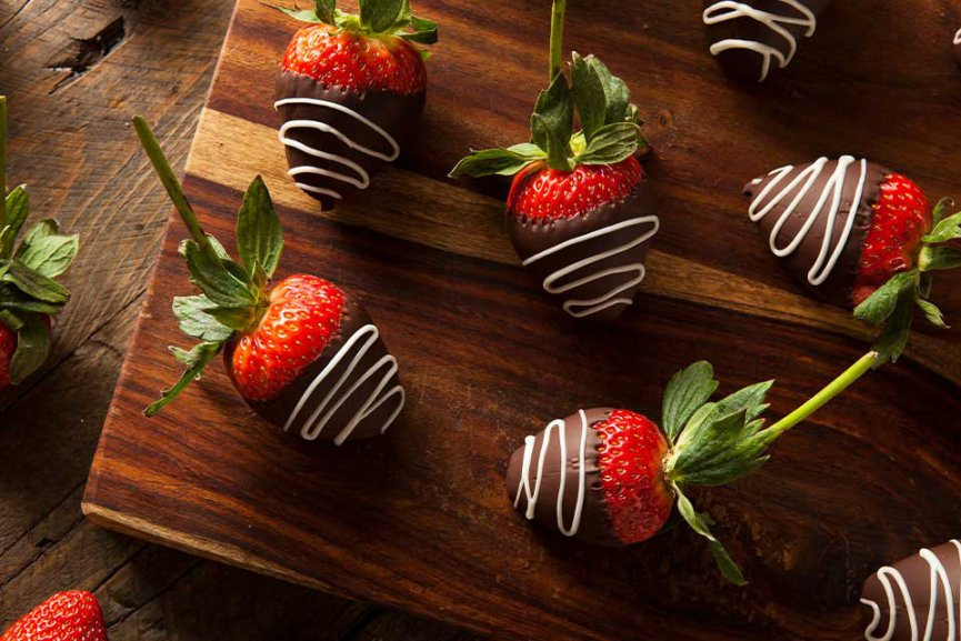 Chocolate covered strawberries from Edible Arrangements