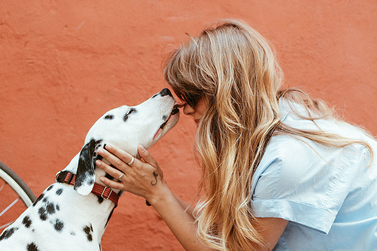 Woman with Dalmatian