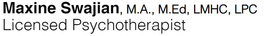 Maxine Swajian, Licensed Psychotherapist Logo