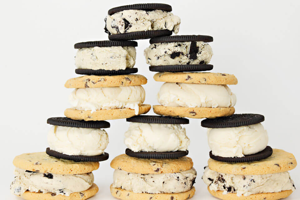 Cookie Ice Cream Sandwich Tower