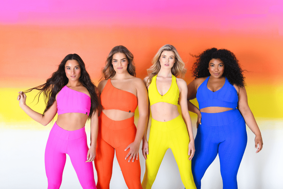 Photo of group of women in Booty By Brabant activewear