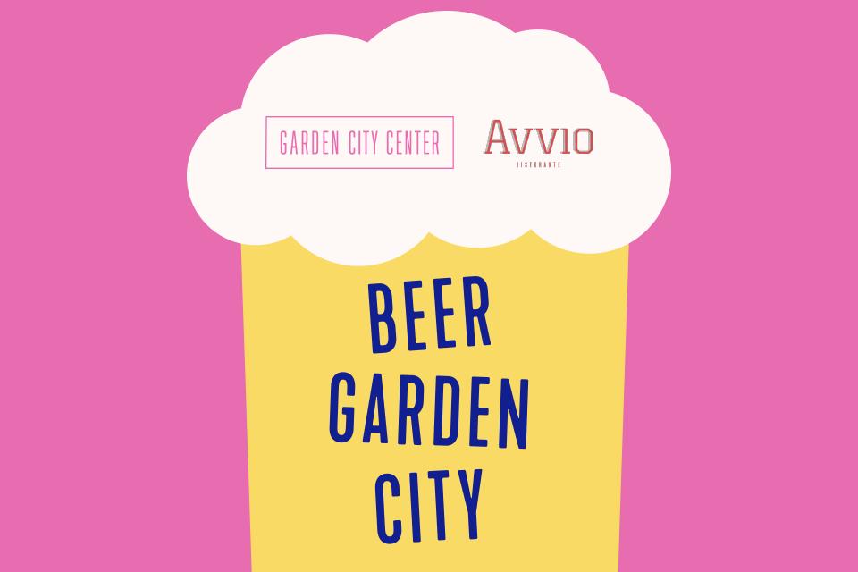 Graphic that reads beer garden city
